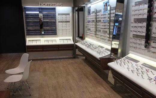 Illustration Rénovation complète d'un magasin d'optique