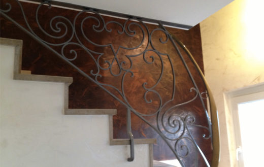 Illustration Décoration d'une entrée et cage d'escalier