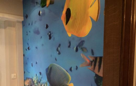 Illustration Pose de papiers peints numérique